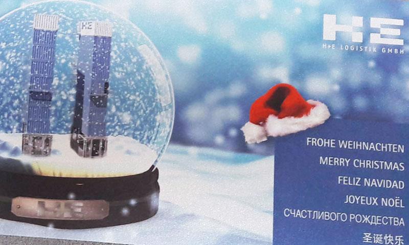 Werbemittel Weihnachtskarte